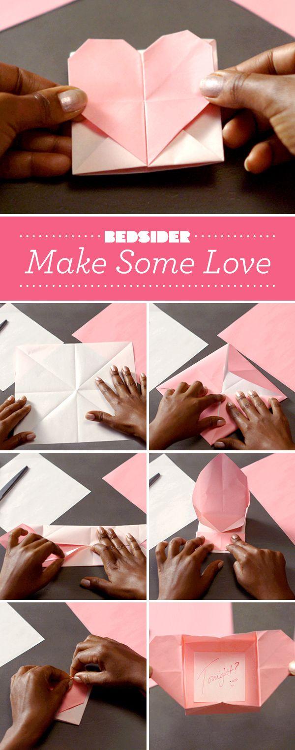 Don't break hearts. Make hearts. Valentine's Day origami.