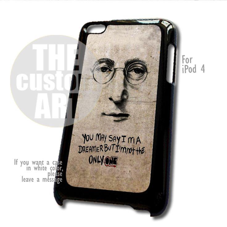 John Lennon Imagine case for iPod 4 | TheCustomArt - Accessories on Bonanza