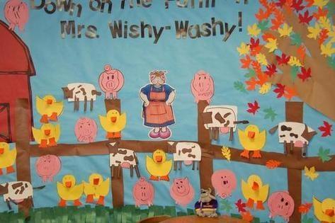 Mrs. Wishy Washy bulletin board