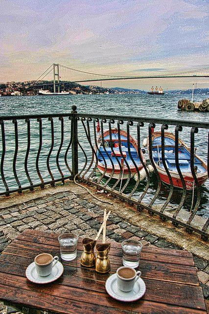 Istanbul Turkey- '' Bu kahvelerin 40 yıl değil, X sevdiğiniz , X manzara = en az 120 yıl hatırı olur herhalde ..