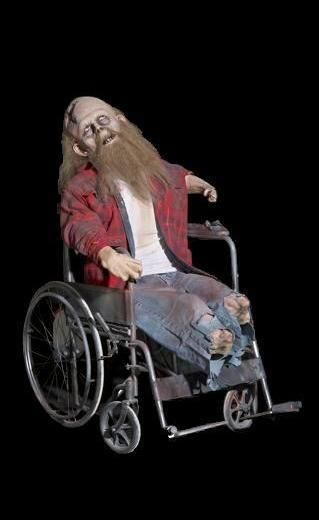 buford in a wheelchair animatronic prop