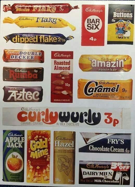 Least fav on here Fry's Chocolate Cream, those curlywurlys used to stretch for miles, and what a mess the chocolate made cos it fell of in bits...