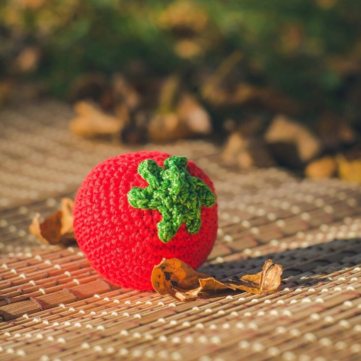 Crochet tomato pretend food organic cotton toy toddler quiet games activity for kids picnic grocery market kitchen play baby plushie soft toys gift