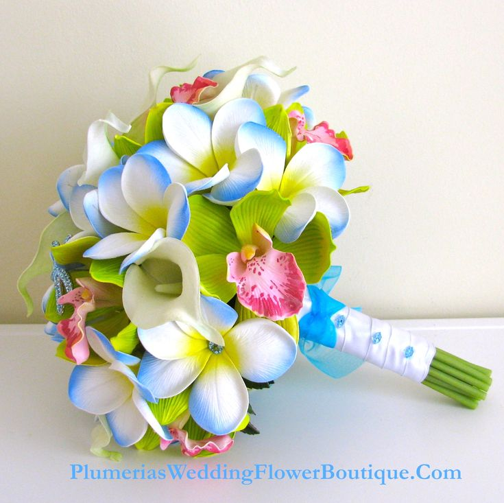 Plumeria, Orchid, and Calla Lily Bridal Bouquet
