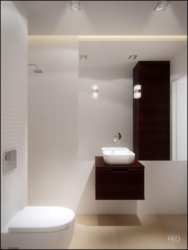 Floating vanity unit | interior visualization by Polish firm Pressenter Design
