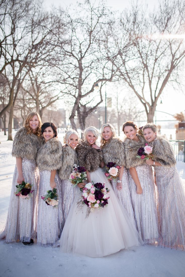 La Crosse Wisconsin Wedding, New Years Eve Wedding, NYE Wedding, Photography by Brittany, www.brittanytodd.com, Blush wedding gown, gold bridesmaid dresses, pink flowers