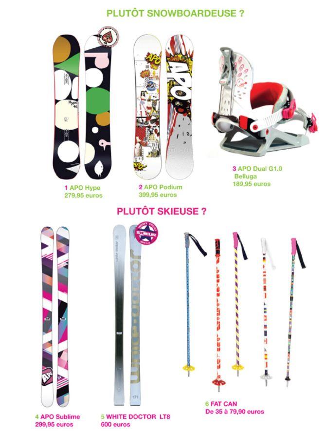 Skieuse ou Snowboardeuse découvrez la panoplie idéale pour la saison 2013 / 2014