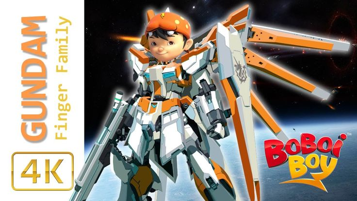 BoBoiBoy Galaxy Transforms Into ROBOT GUNDAM Finger Family Song Boboiboy...