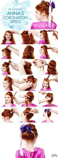 Re-create Popular Frozen Characters Hairstyles Worn by Anna and Elsa #FrozenHairstyles