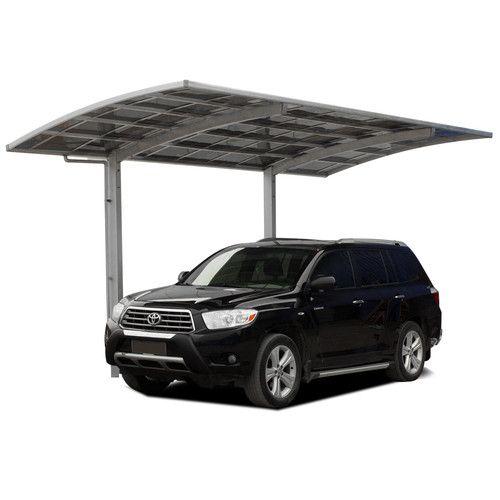 Aluminum Carport 15m ² Design Polycarbonate Roof Gutter downpipe 545x276 cm New | eBay
