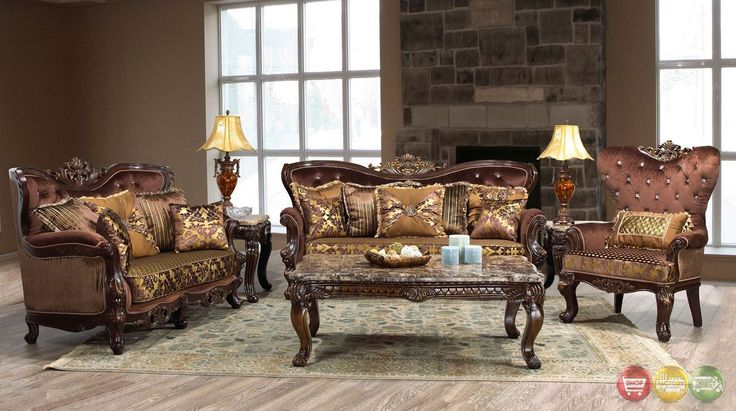 Lillian Luxury Sofa Love Seat Two Piece Formal Living Room Furniture Set