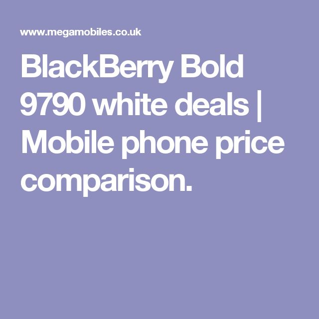 BlackBerry Bold 9790 white deals | Mobile phone price comparison.