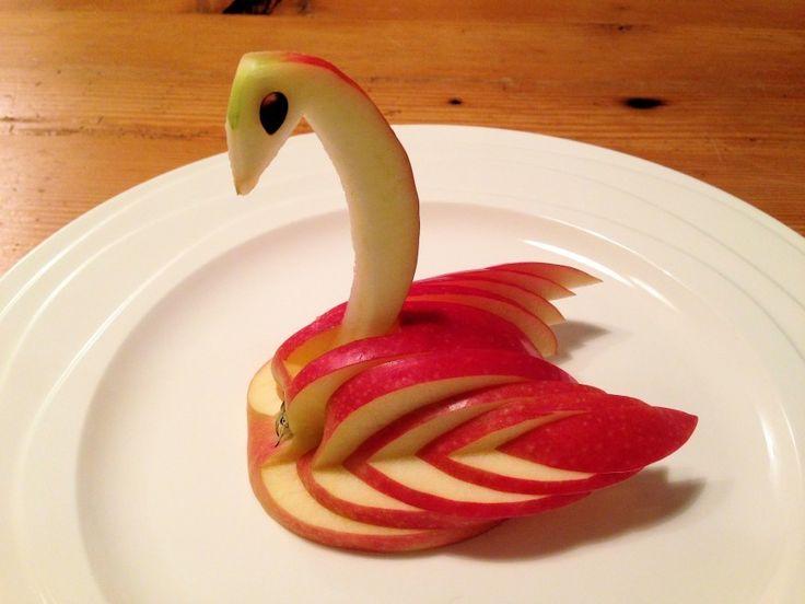 Appel, kunstig garneren   Lekker Tafelen