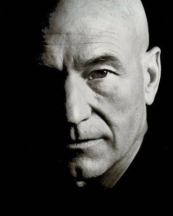 """Patrick Stewart """"The only still center of my life is Macbeth. To go back to doing this bloody, crazed, insane mass-murderer is a huge relief after trying to get my cell phone replaced."""""""