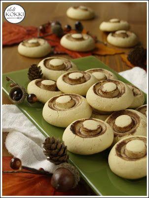 gomba keksz (édes csiperke keksz)