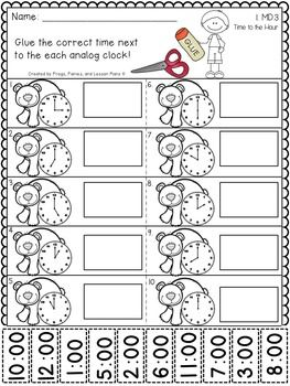 First Grade Telling Time