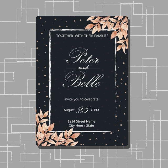 دعوة زفاف الزهور مع زهرة جميلة Flower Wedding Invitation Floral Wedding Floral Wedding Invitations