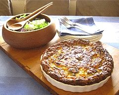 Impossible quiche - it has the name because you throw everything in the dish and it makes itself!