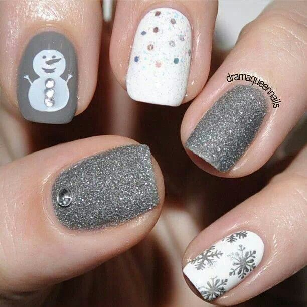 Snowman and snowflakes! ♥