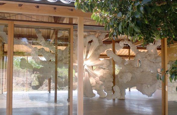 犬島家プロジェクトの一つF邸で見られる芸術家、名和晃平の作品 Biota。犬島観光のおすすめ