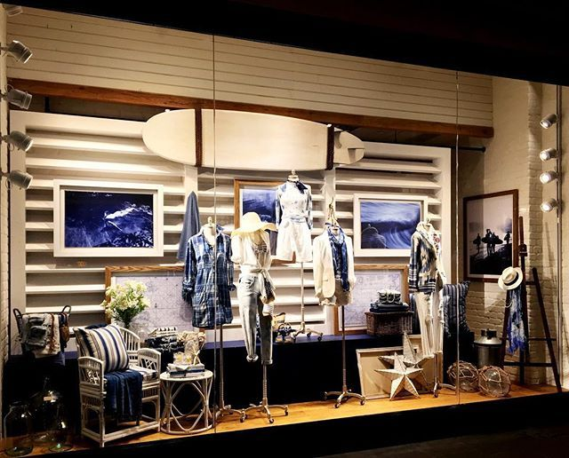 """POLO RALPH LAUREN, Shaw Centre, Singapore, """"If you are lucky enough to live by the sea... You are lucky enough"""", photo by Vision Display, pinned by Ton van der Veer"""