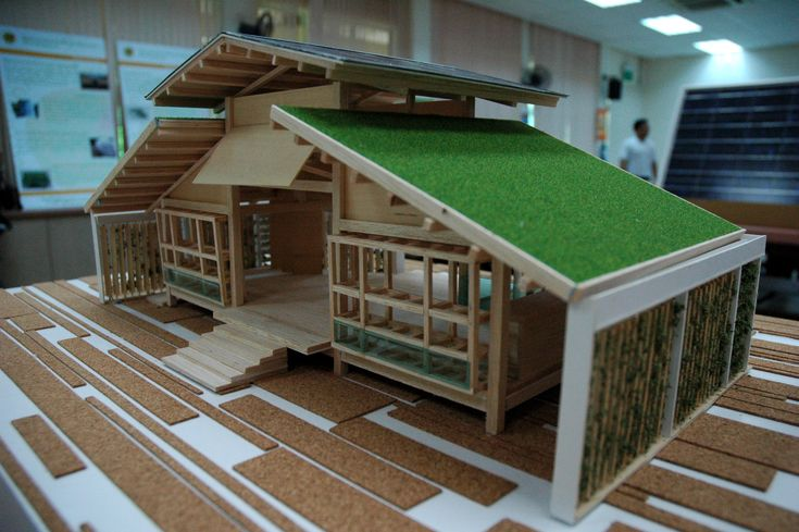Sustainable house bamboo house design miniature green for Modern bamboo house plans