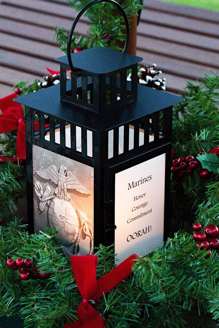 Lantern with Marine Corps Emblem, Photo of the Marine Corps Museum in Quantico, Photo of Iwo Jima Memorial, Quotes, Personalize, US Military by PictureItDecor on Etsy