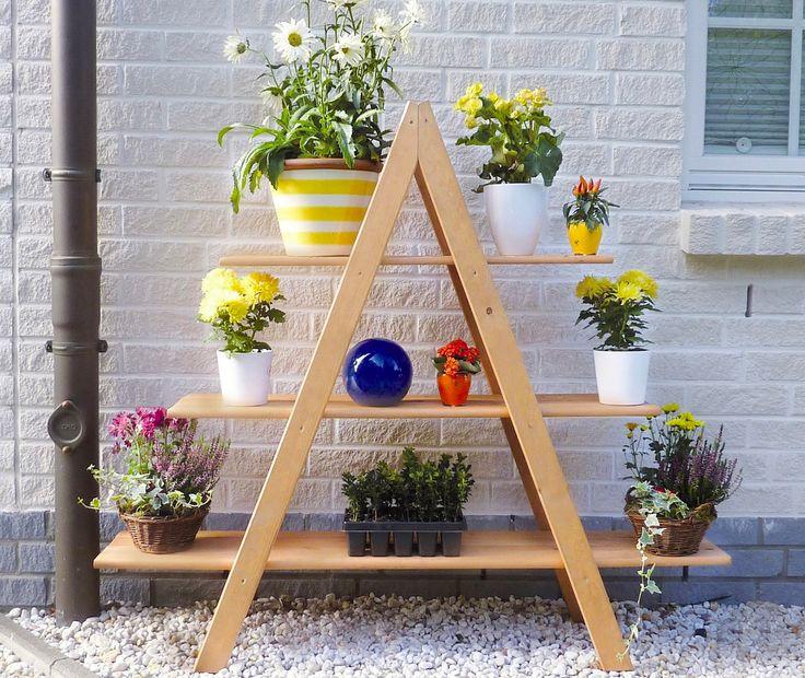 Wenig Platz Auf Dem Balkon Oder Der Terrasse? Eine Blumentreppe Kann Deine  Lösung Sein.