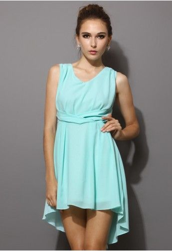 Asymmetric Waterfall Dress in Mint Blue. Makes me think of Dirty Dancing for some reason, I wish I had a good excuse to get this dress