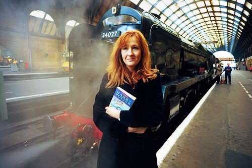 """Where the idea for Harry Potter actually came from, I really couldn't tell you. I was traveling on a train between Manchester and London and it just popped into my head. I spent four hours thinking about what Hogwarts would be like – the most interesting train journey I've ever taken. By the time I got off at King's Cross, many of the characters in the books had already been invented."" -Queen Rowling o-oHogwarts, Happy Birthday, The Queens, Jk Rowling, Harrypotter, J K Rowling, Book, Harry Potter, People"