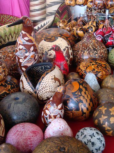 hand-carved gourds from Peru - Santa Fe International Folk Art Market