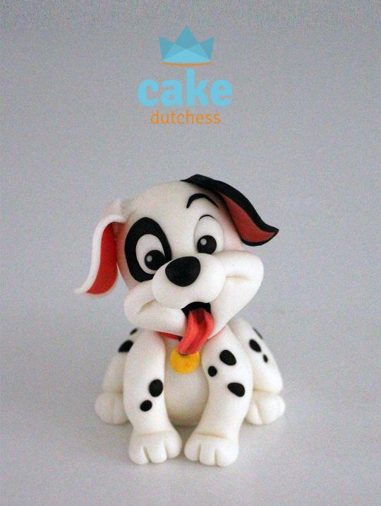 Dalmatiner Hund aus Fimo