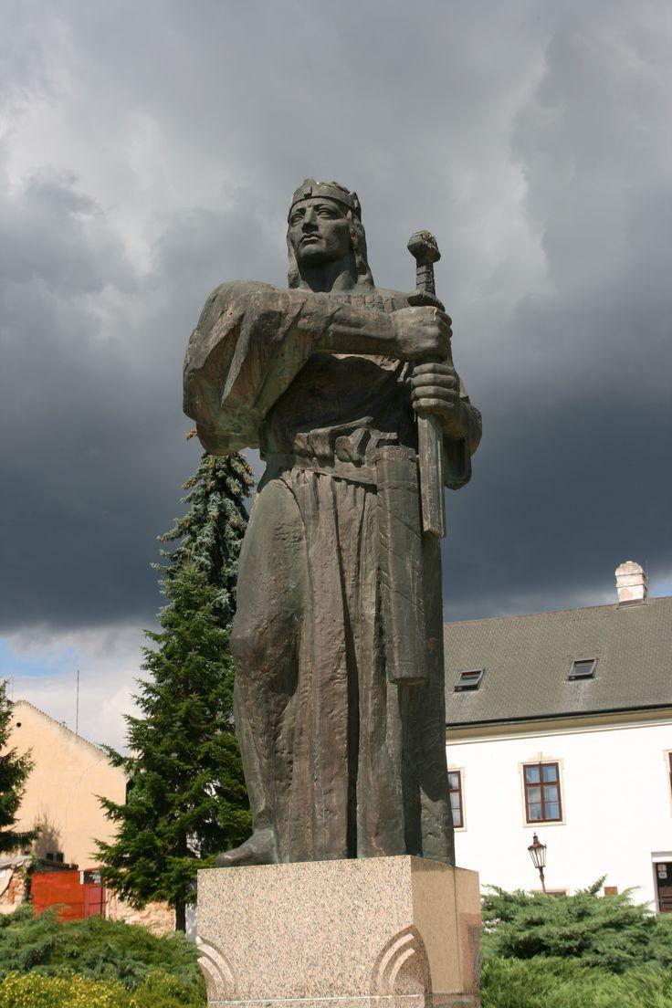 Nitra - The statue of Pribina