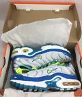 Nike Air Max Plus GS Size 5y Running Cross Trainer White Blue Tn Youth Shoes NEW