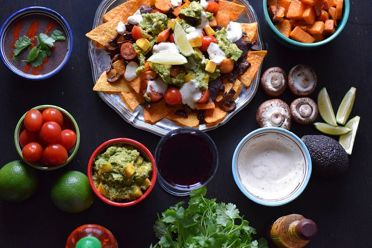 Luxurious vegan tacos with mango guacamole and chipotle mushrooms