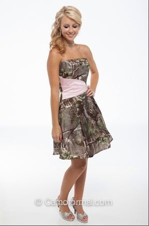 1000  images about Camo Prom on Pinterest  Aline wedding gowns ...