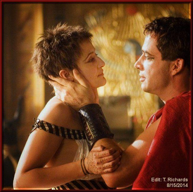 James Purefoy (Marc Antony) and Lyndsey Marshal (Cleopatra)