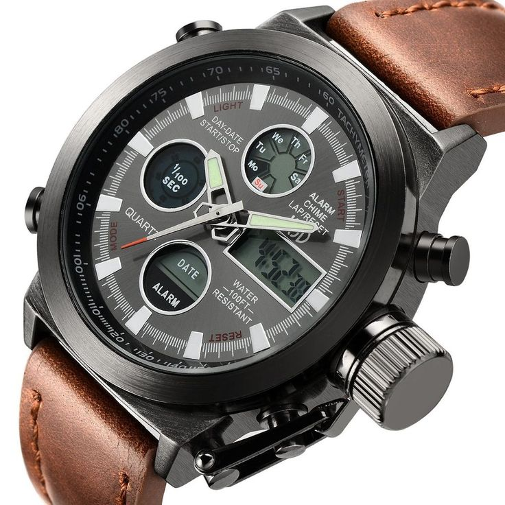 17 best ideas about mens military watches military details about fashion leather men s military watches multifunctional digital men sports watch
