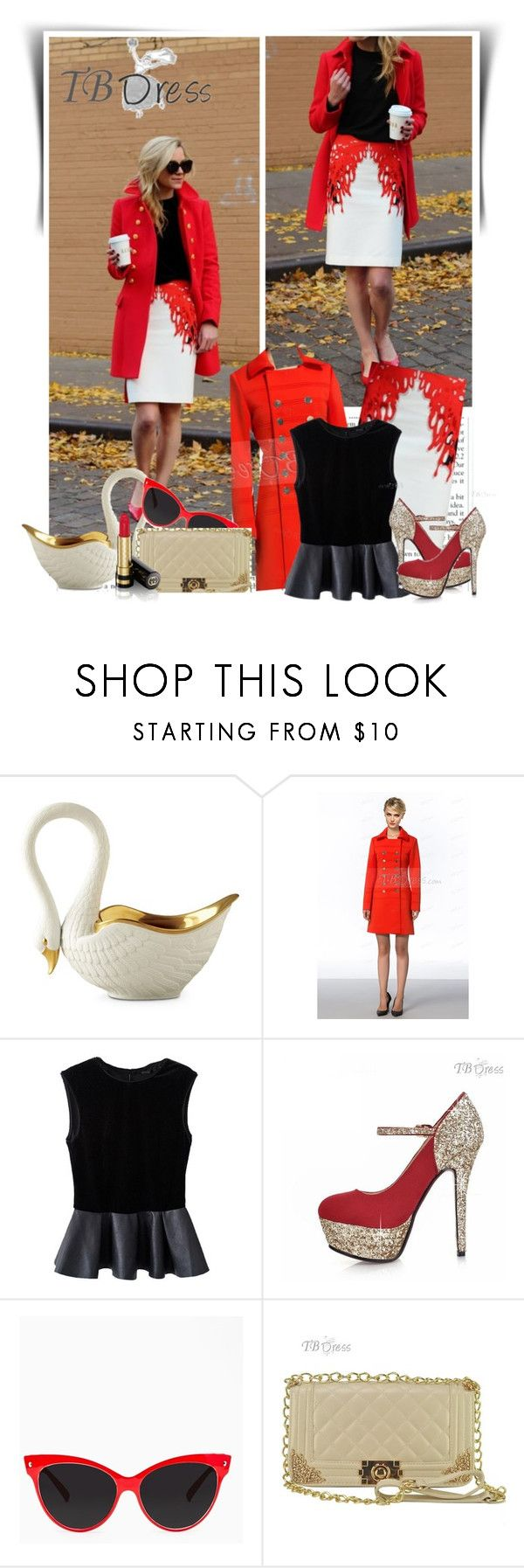 """""""TB Dress"""" by dalila-mujic ❤ liked on Polyvore featuring L'Objet, Gucci and tbdress"""