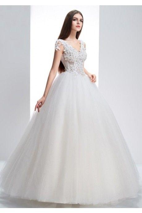 Vネック フロア 結婚式 二次会 ドレス Halz0036