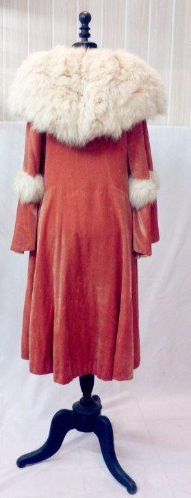 MAGNIFICIENT 1920s velvet silk coat with big fur collar // 1920 coat // 1920s  silk // 1930 // 1930 coat // edwardian // antique