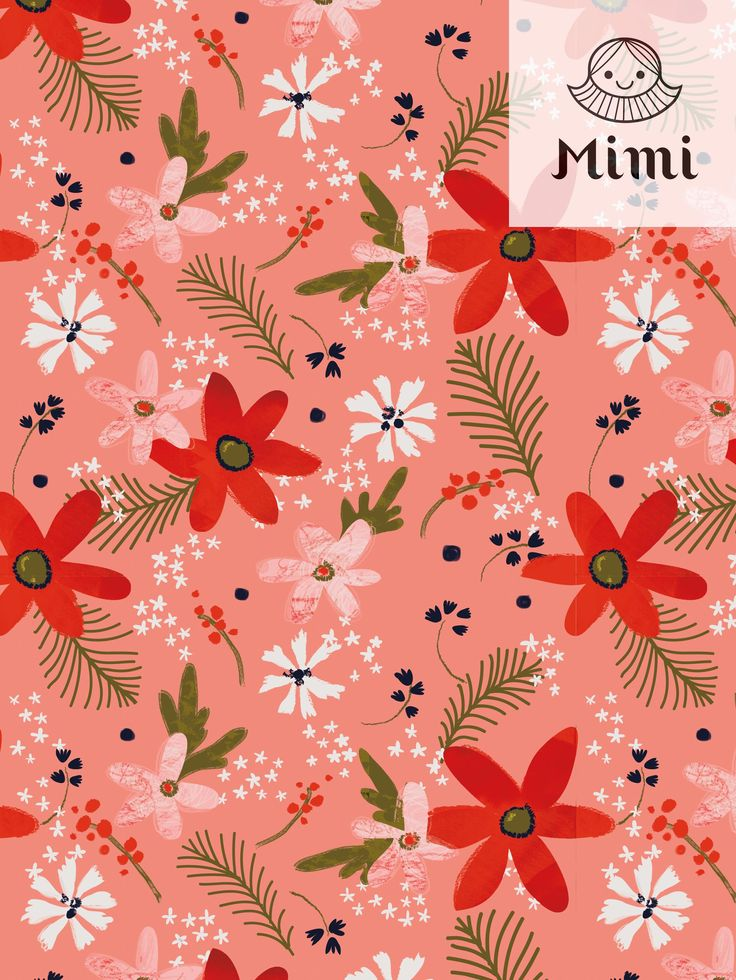 Winter floral pattern  by Mimi paper
