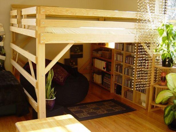 large loft with bean bag reading nook below