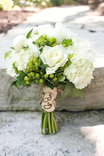 Alternative Wedding Bouquets An Engraved Wooden Charm Is Inexpensive Way To Personalize A Rustic