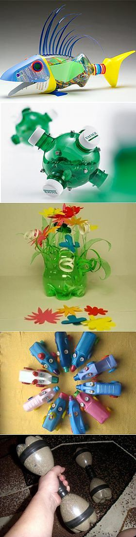 Поделки из пластиковых бутылок для сада, дачи. Детские поделки из пластиковых бутылок своими руками с фото - цветы, пальма, вазы, бабочки из бутылки, кормушка