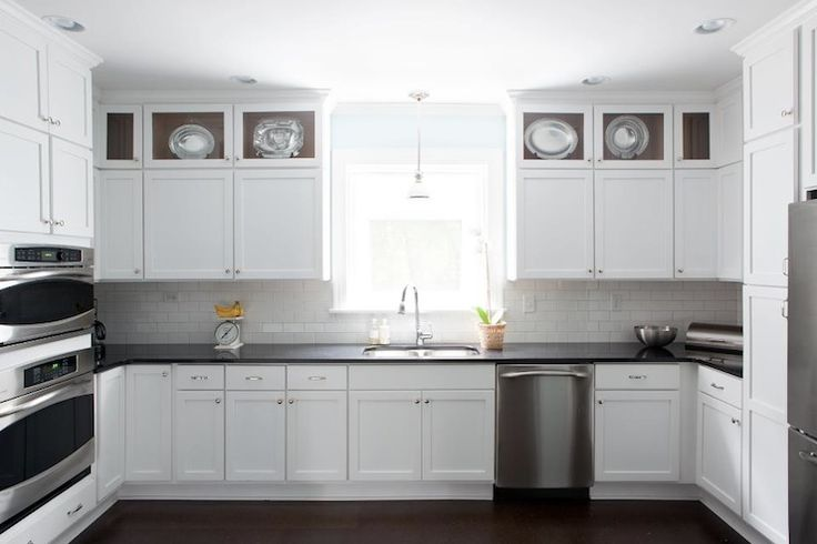 Dark Kitchen Cabinets With White Crown Moulding White