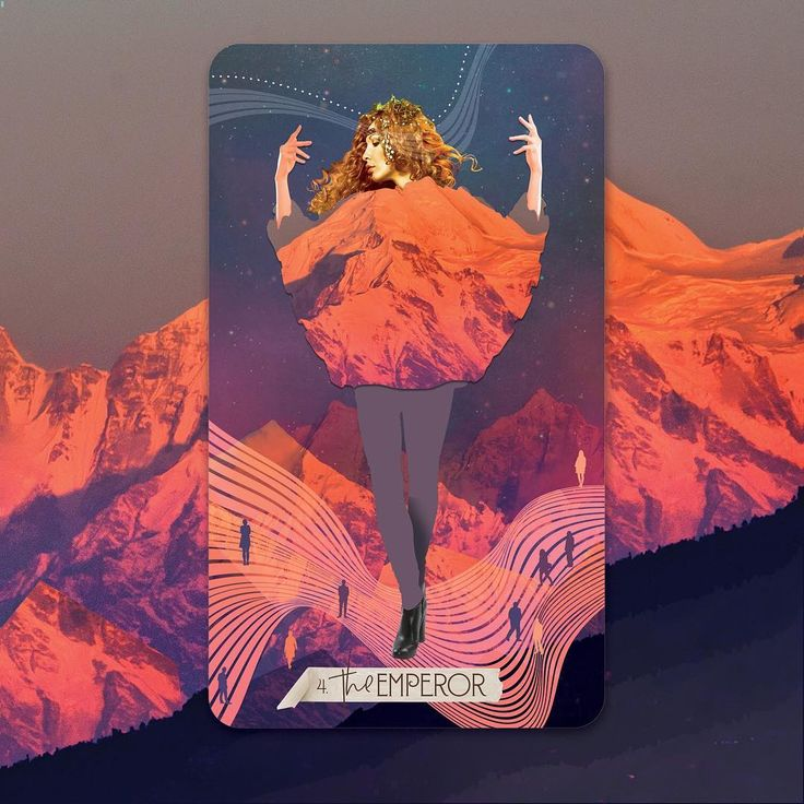 Card reveal the emperor from the muse tarot while