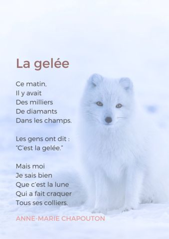 french poem about winter and ice