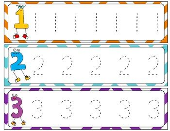 Number Tracing Mini Flip Book FREEBIE