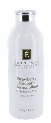 Eminence Eminence Strawberry Rhubarb Dermafoliant 4.2 fl oz by Eminence Organic Skin Care. $46.95. Get soft, smooth skin with Eminence Strawberry Rhubarb Dermafoliant. This mild exfoliant has a unique formula that activates when combined with water. Antioxidant rich strawberries and rhubarb work to tighten pores while cleansing....